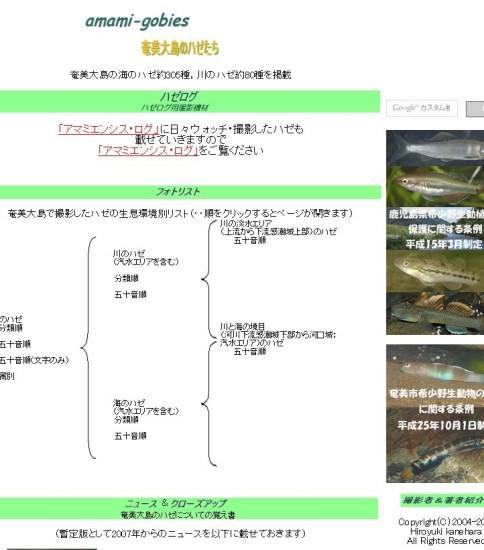 amami-gobies「奄美大島のハゼたち」