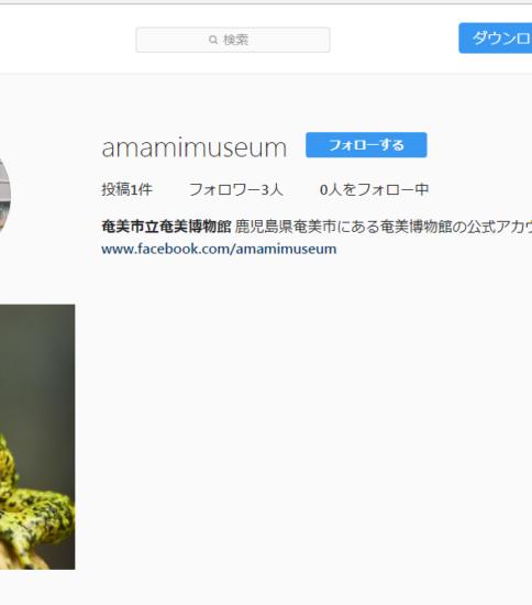 奄美博物館公式インスタグラム開設 !