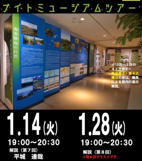 1月の奄美博物館ナイトミュージアムツアーのお知らせ