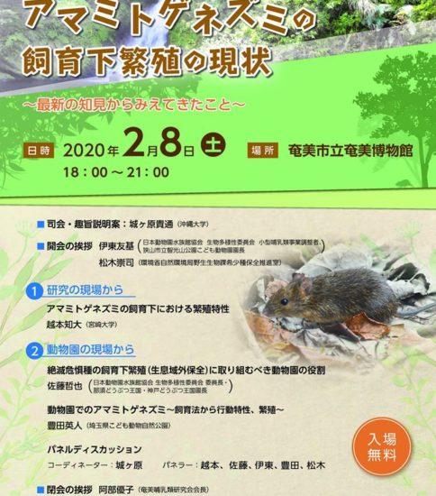 「アマミトゲネズミ」に関するシンポジウム開催!